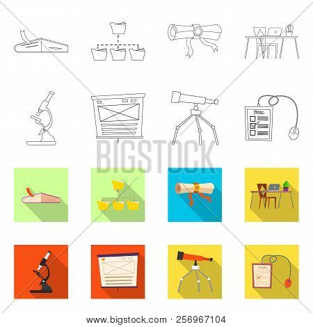 Isolated Object Of Education And Learning Logo. Collection Of Education And School Stock Vector Illu