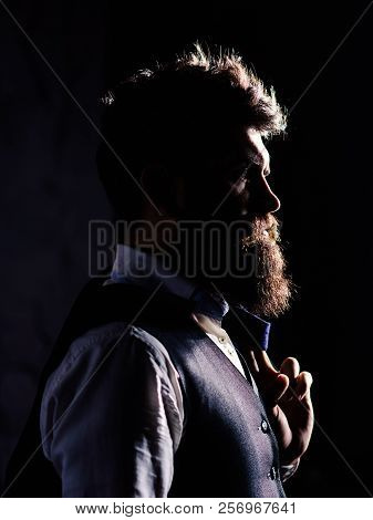 Millionaire In Elegant Suit Looks Affluent. Rich Lifestyle, Success, Business, Criminal, Elegance Co