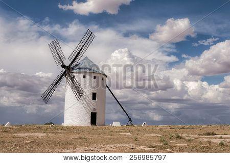 Windmill Of Don Quijote In Campo De Criptana. Castilla La Mancha. Spain.