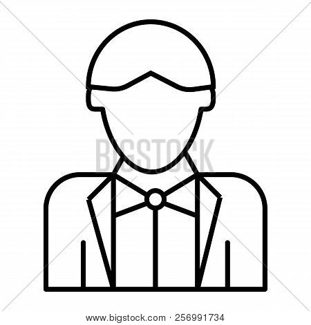 Newly Married Man Thin Line Icon. Groom Vector Illustration Isolated On White. Wedding Outline Style