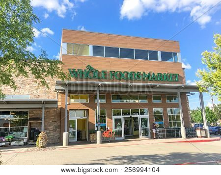 Customer Enter Whole Foods Market Store In Dallas, Texas, America