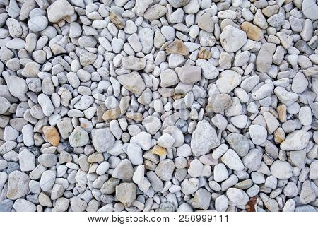 An image of a white pebbles background