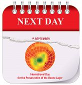 Calendar - Next Day. After September 15, International Day for the Preservation of the Ozone Layer poster