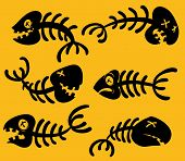 Cartoon dead fish. All in separate layers for easy editing. poster