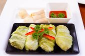 Modern Sukiyaki roll, fusion between Chinese and Thai food. poster