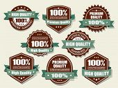 Premium and High Quality Labels with retro vintage design poster