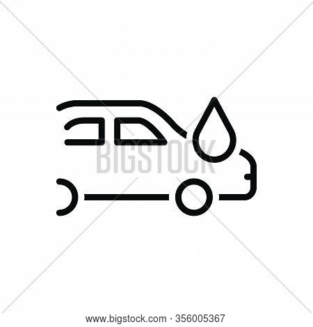 Black Line Icon For Given Particular Liable Accountable Car Vehicle Automobile