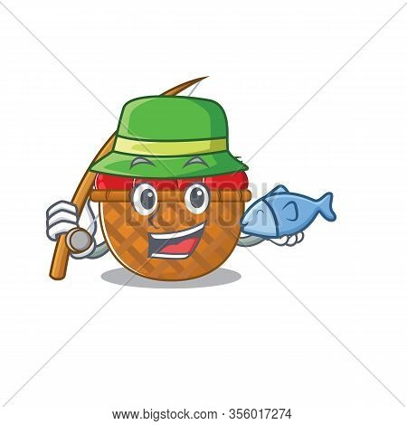 A Picture Of Funny Fishing Tomato Basket Design