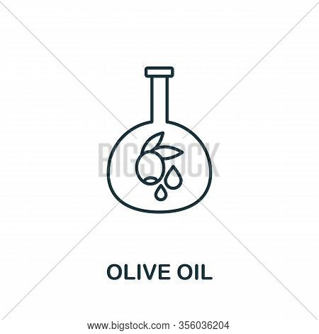 Olive Oil Icon From Italy Collection. Simple Line Olive Oil Icon For Templates, Web Design And Infog
