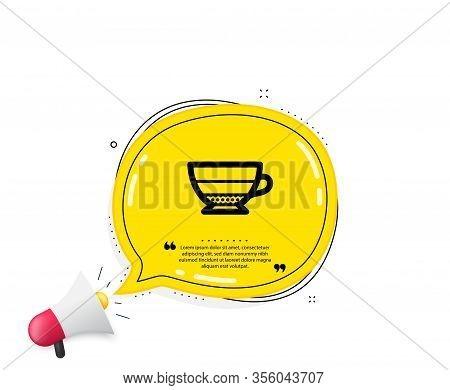 Americano Coffee Icon. Quote Speech Bubble. Hot Drink Sign. Beverage Symbol. Quotation Marks. Classi