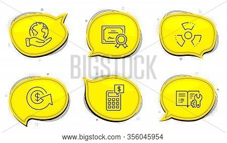 Chemical Hazard Sign. Diploma Certificate, Save Planet Chat Bubbles. Engineering Documentation, Doll