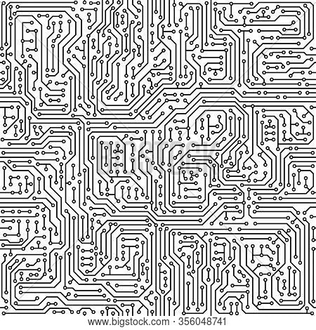 Vector Abstract Seamless Background Electronic Circuit Board