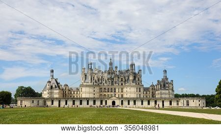 Chambord, France - August 6, 2013: Château De Chambord Is The Largest Château In The Loire Valley, F