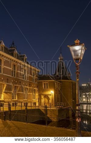 The Hague , Februari 17 2019: The Hague, The Netherlands The Little Tower, Located At The Binnenhof