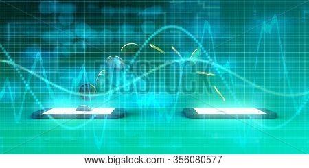 Smart Phone Banking Online as a Fintech Concept 3d Render