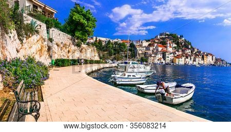 Beautiful places nd towns of Croatia - magnifiicent medieval coastal town Sibenik