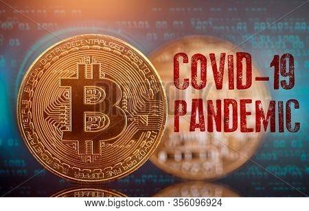 Bitcoin and cryptocurrency investing concept - Crypto Market crash due to Coronavirus 2019-nCoV, COVID-19