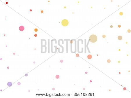 Light Multicolor, Rainbow Vector Modern Geometrical Circle Abstract Background. Dotted Texture Templ