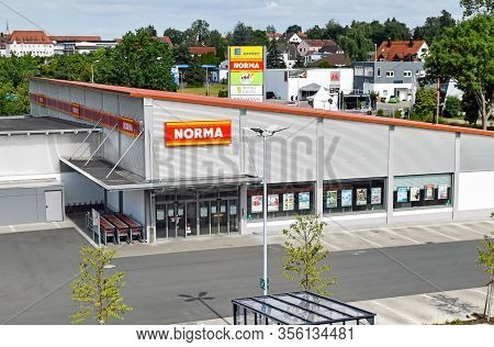 Herzogenaurach, Germany - June 24, 2018: Exterior View Of A Newly Opened Modern Store Of The Food Di