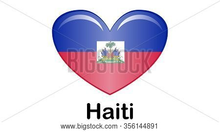 Flag Of Republic Of Haiti And Formerly Called Hayti Is A Country Located On The Island Of Hispaniola