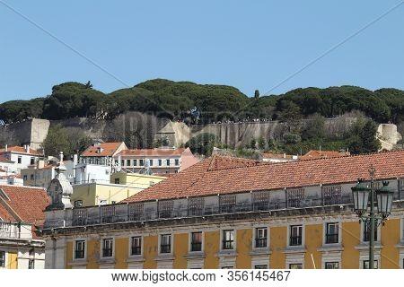Beautiful Nossa Senhora Do Monte Viewpoint In Lisbon In March
