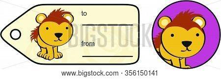 Cute Kawaii Porcupine Cartoon Gift Card Sticker Set Invector Format