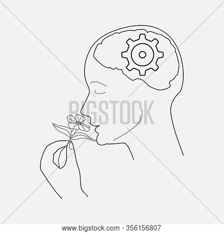 Cognitive Process Icon Line Element. Vector Illustration Of Cognitive Process Icon Line Isolated On