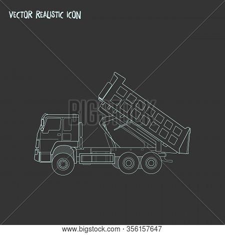Demolition Truck Icon Line Element. Vector Illustration Of Demolition Truck Icon Line Isolated On Cl