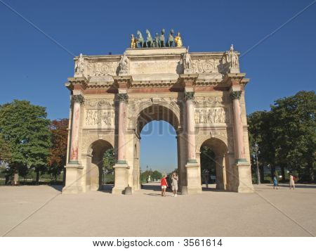 Paris - The Carrousel Triump Arch
