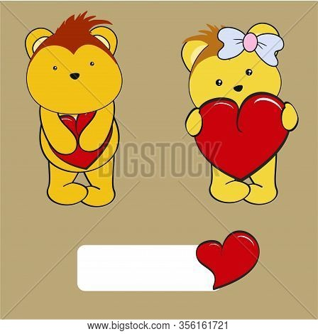 Cute Kawaii Porcupine Girl And Boy Valentine Cartoon Collection In Vector Format Very Easy To Edit