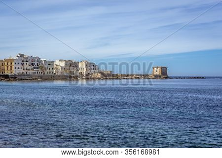 View From Tramontana Walls With Conca Bastion And Ligny Tower In Trapani, Sicily Island In Italy