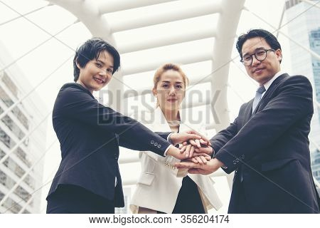 Mission Vision Business Team Building Identity Corporate Teamwork Industry And Workforce.  Mission A