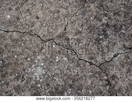Cracked Concrete Ground , Cracked Wall Surface Texture Background , Crack Effect