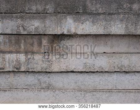 Concrete Fence Slabs Texture Background, Concrete Slabs Texture