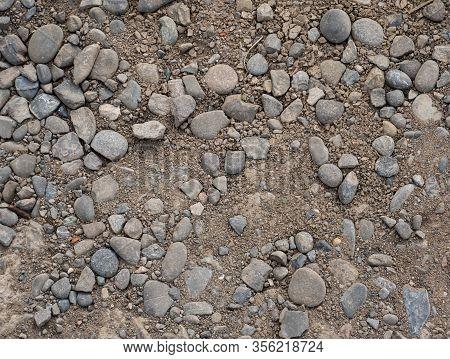 Stones On Brown Ground Surface, Ground Texture Background