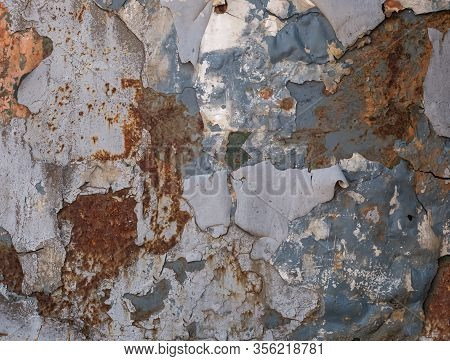 Rotten Metal With Peeling Paint, Rusty Metal Background, Metal With Corrosion