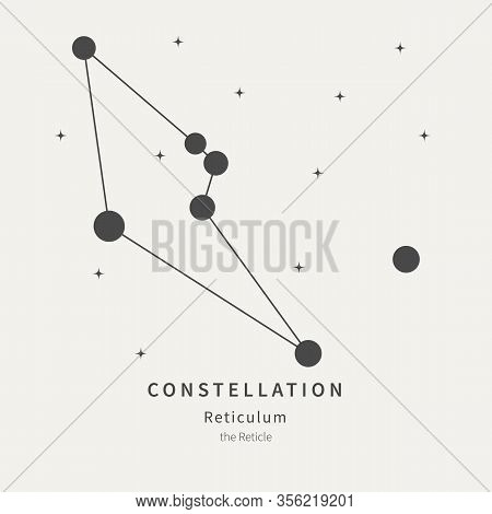 The Constellation Of Reticulum. The Reticle - Linear Icon. Vector Illustration Of The Concept Of Ast
