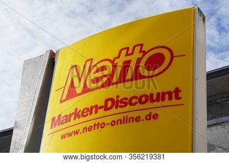 Hannover, Germany - March 17, 2020: Netto Logo Sign At Local Branch Of German Supermarket Chain