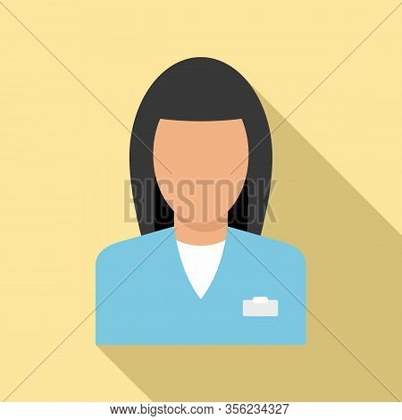 Woman Pharmacist Icon. Flat Illustration Of Woman Pharmacist Vector Icon For Web Design