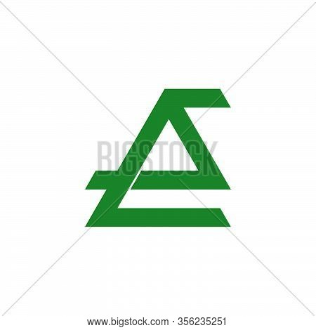Abstract Letter Es Geometric Overlapping Line Logo Vector