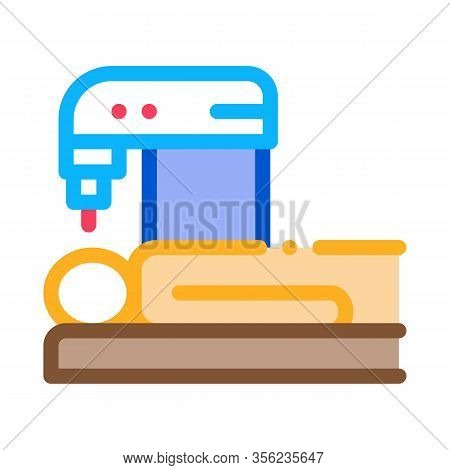 People Treatment Machinery Icon Vector. Outline People Treatment Machinery Sign. Isolated Contour Sy