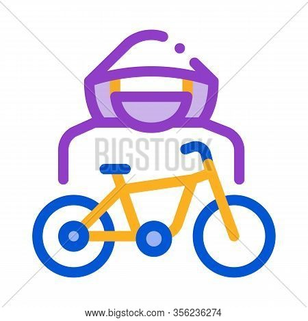 Bike Theft Icon Vector. Outline Bike Theft Sign. Isolated Contour Symbol Illustration