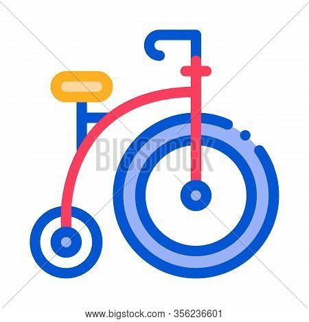 Penny Farthing Icon Vector. Outline Penny Farthing Sign. Isolated Contour Symbol Illustration