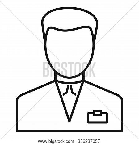 Man Pharmacist Icon. Outline Man Pharmacist Vector Icon For Web Design Isolated On White Background