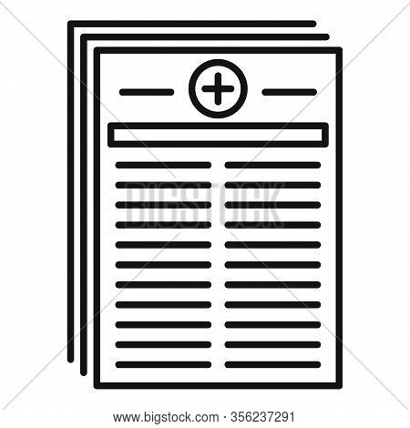 Medical Pharmacist Papers Icon. Outline Medical Pharmacist Papers Vector Icon For Web Design Isolate