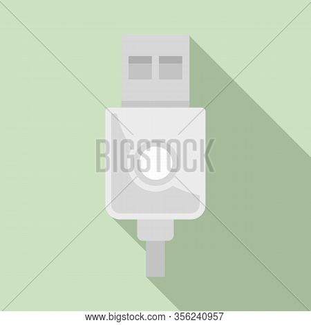 Modern Usb Cable Icon. Flat Illustration Of Modern Usb Cable Vector Icon For Web Design