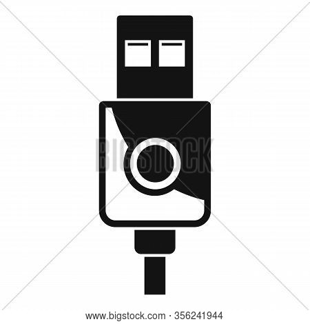 Modern Usb Cable Icon. Simple Illustration Of Modern Usb Cable Vector Icon For Web Design Isolated O