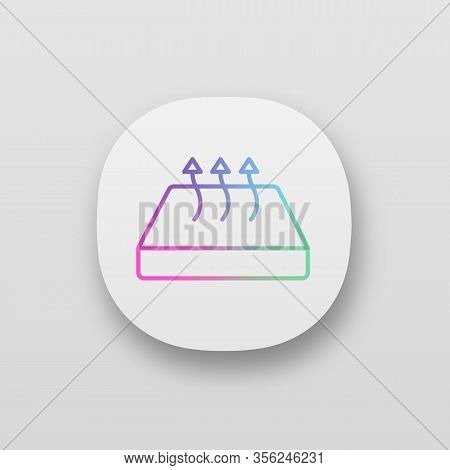 Breathable Mattress App Icon. Crib Mattress With Breathable Cover Fabric. Ui Ux User Interface. Web