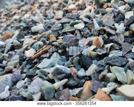 Stack Of Broken Stones.big Pile Of Broken Rocks And Boulders.pile Stack Of Huge Natural Granite Ston