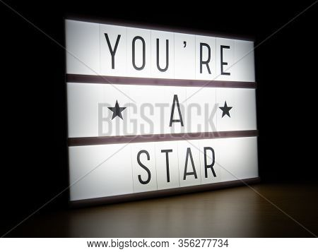 Led Light Box You're A Star Message Board